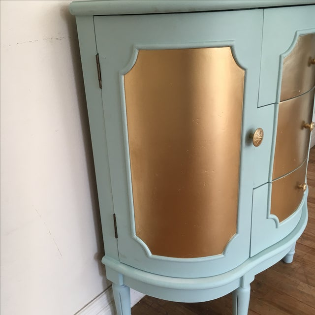 Demilune Console Table or Storage Cabinet - Image 6 of 9