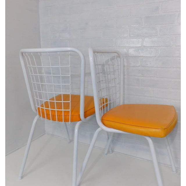 Howell Mid-Century Modern Metal Wire Back Dining Chairs