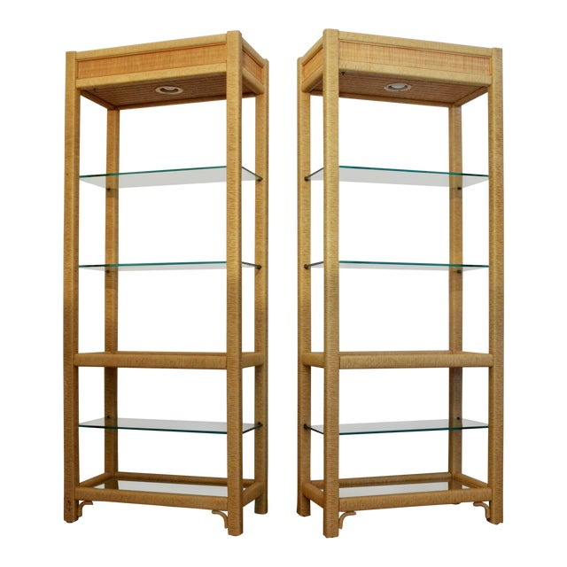 Gabriella Crespi - Style Etageres, a Pair For Sale