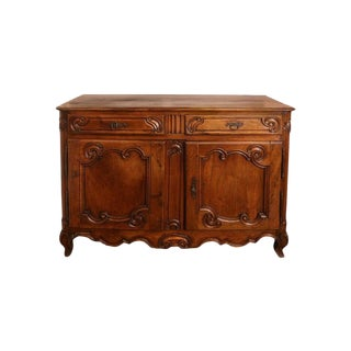 19th Century French Louis XV Style Walnut Buffet For Sale