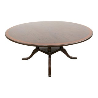 Georgian Style Round Birdcage Pedestal Dining Table For Sale