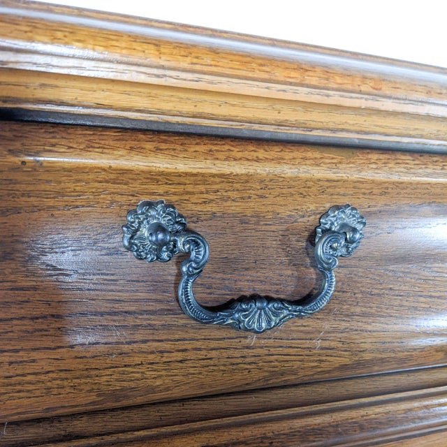 Brown Stanley Furniture Traditional Wooden Chest For Sale - Image 8 of 10