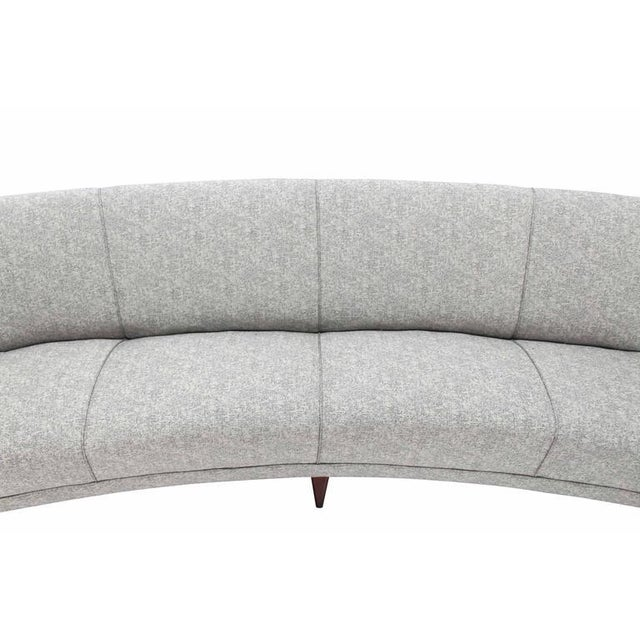 Early 20th Century New Upholstery Curved Cloud Sofa For Sale - Image 5 of 9