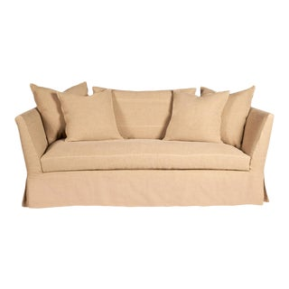 Seda Slipcovered Loveseat Sofa by Cisco Brothers For Sale