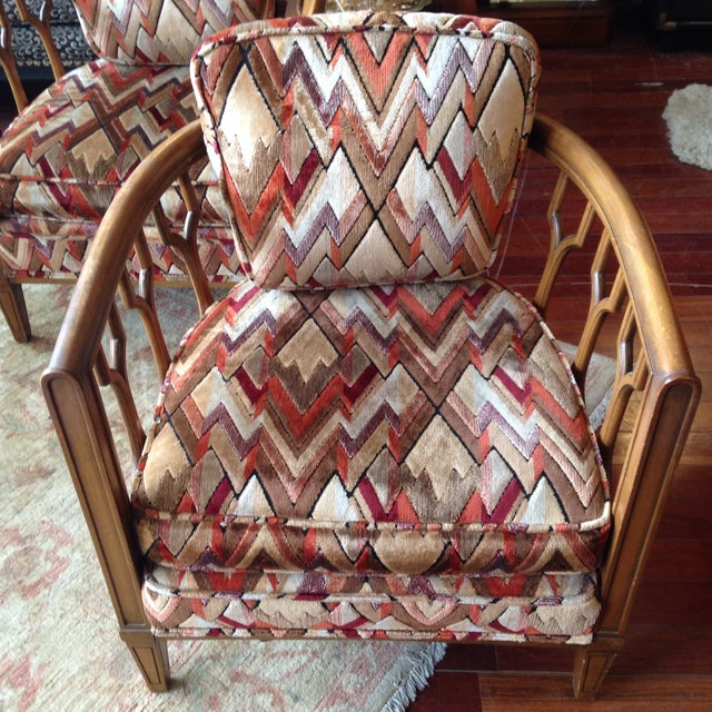 Vintage Barrel Back Club Chairs - A Pair - Image 3 of 11