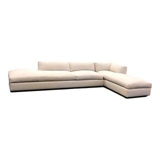 Contemporary Custom White Genoa Sectional Sofa For Sale