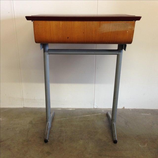 Vintage 1960s Children's School Desk For Sale - Image 5 of 8