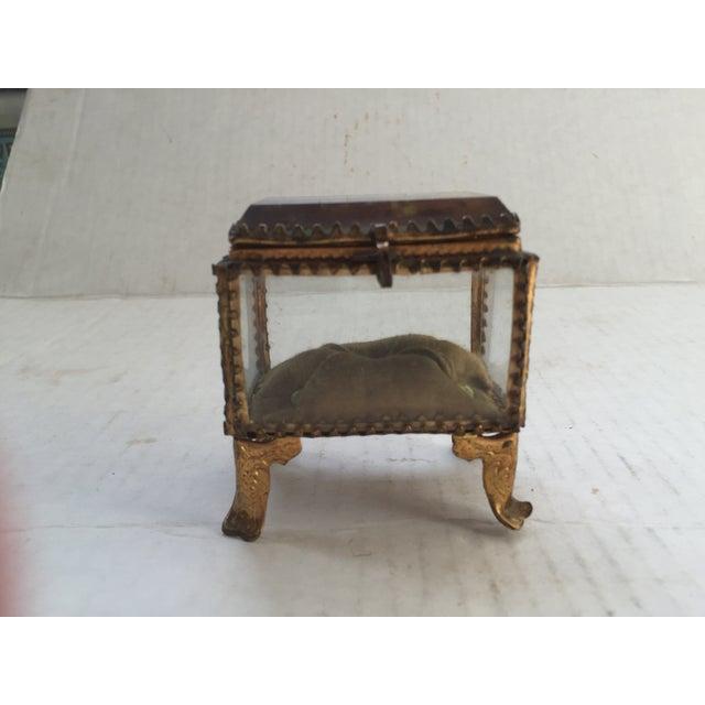 French souvenir ring box. Souvenir of La Panne, Belgium. La Panne a seaside commune bordering France. No maker's mark....