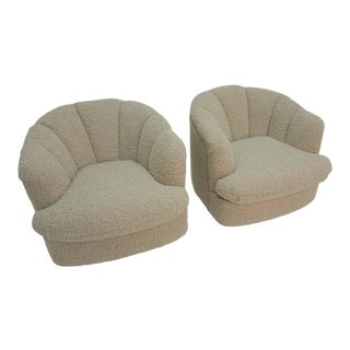 Milo Baughman Directional Swivel Chairs - a Pair For Sale