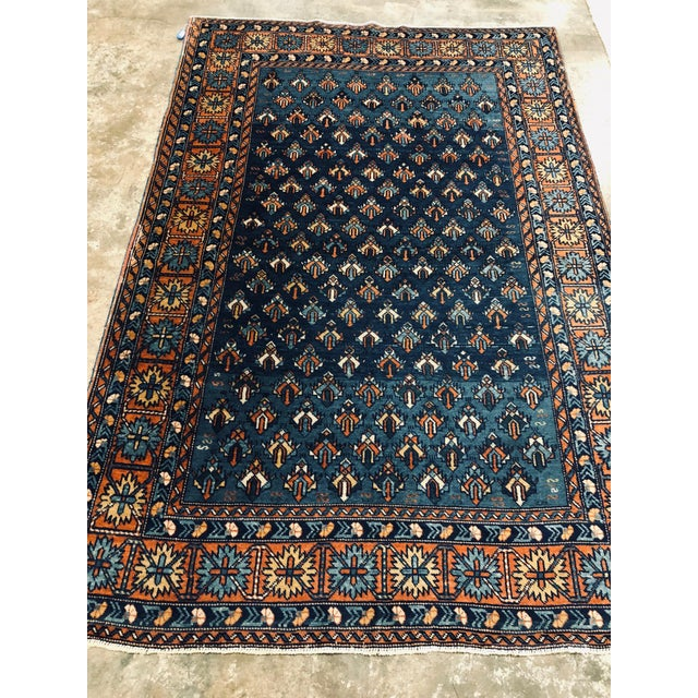 Antique Yerevan Rug with Modern Tribal Style, Antique Russian Armenian Rug For Sale - Image 10 of 10