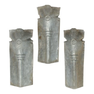 Zinc Architectural Elements, Set of 3 For Sale