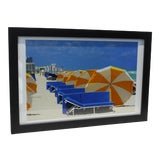 "Image of ""Umbrellas at South Beach Miami"" Lithograph For Sale"