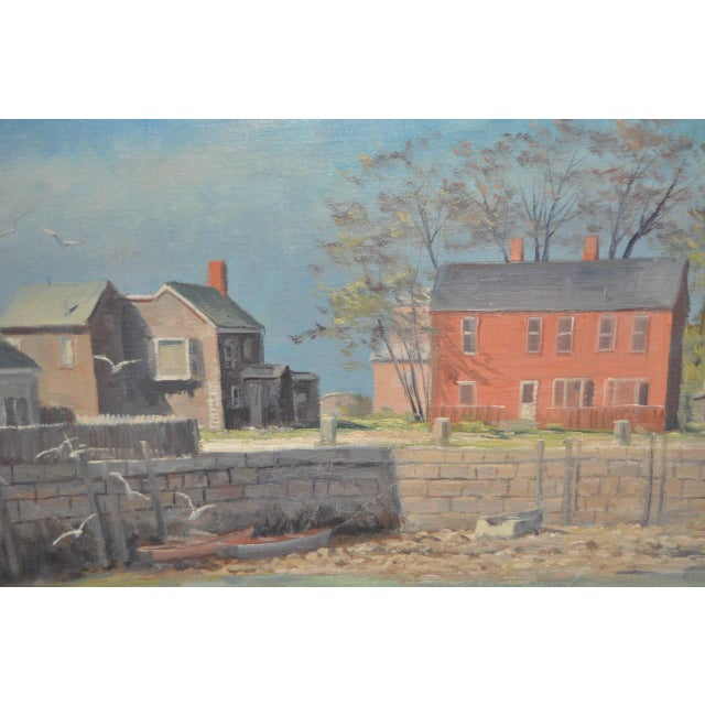 Impressionism Rockport Massachusetts Oil Painting by Michael Stoffa For Sale - Image 3 of 9