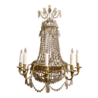 Pair Extraordinary Antique French Napoleon III Crystal and Bronze Sconces, Circa 1870-1880. For Sale