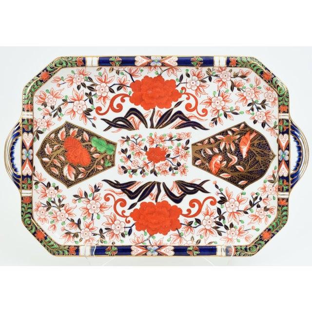 19th Century Antique England Royal Crown Derby Imari Porcelain Tea Service . For Sale - Image 5 of 13