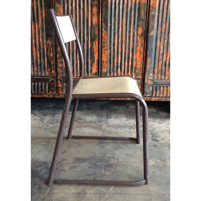 French Vintage Industrial Dining Chairs - Set of 6 - Image 4 of 10