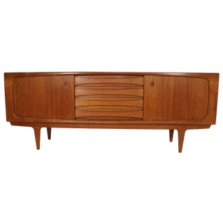 Danish Teak Credenza by H. P. Hansen For Sale
