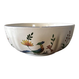 Gien France Round Serving Bowl For Sale