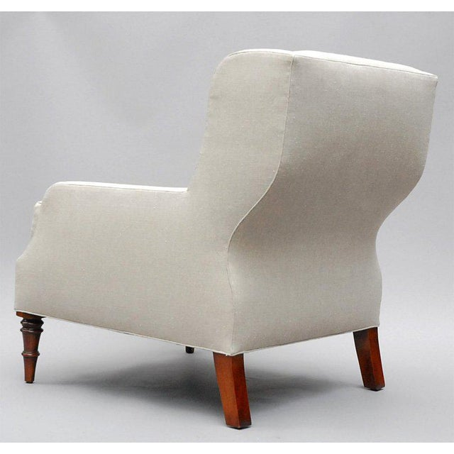 """Selby"" by Lee Stanton Armchair Upholstered in Belgian Linen or Custom Fabric For Sale - Image 9 of 10"