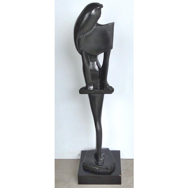 Vintage Art Deco Style Female Figure Statue For Sale - Image 9 of 9