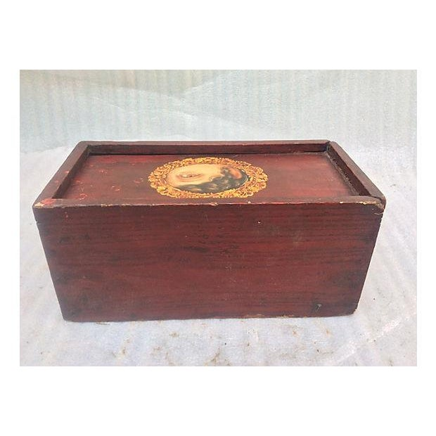 Antique Painted Eye Mystery Box - Image 6 of 6