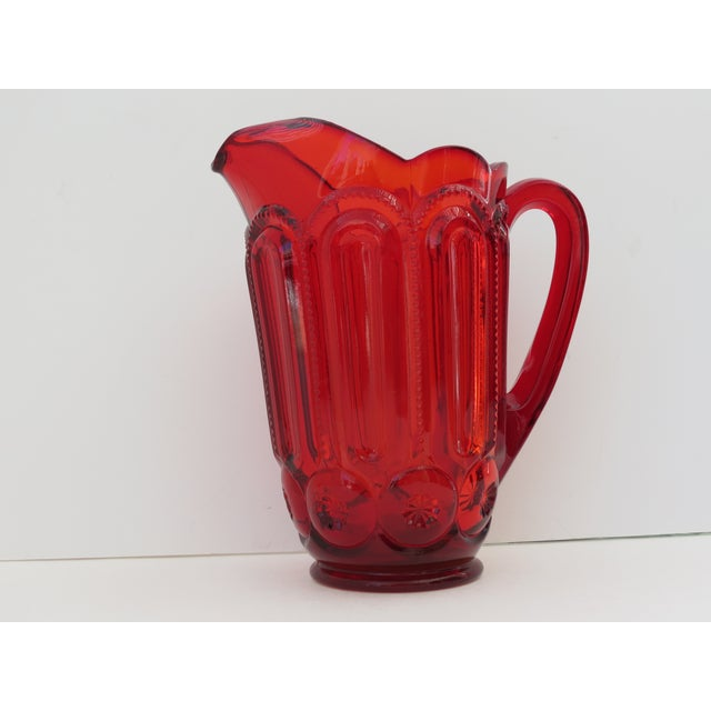 Moon & Stars Ruby Red Pitcher - Image 4 of 5