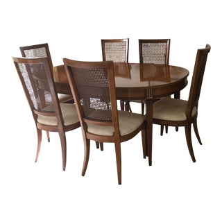 1960s French Provincial Dining Set - 7 Pieces For Sale