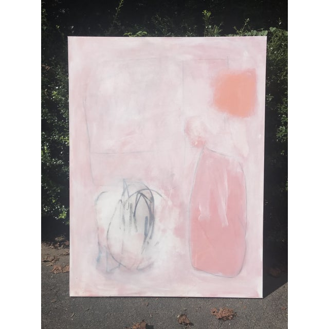 Layers of acrylic, graphite, and charcoal are applied, smudged, wiped, and reapplied to build to a composition of final...