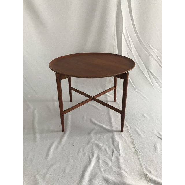 1960s Danish Modern Teak Tray/Side Table For Sale - Image 9 of 9
