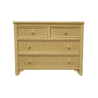 Late 20th Century Lexington / Henry Link Furniture Cream Chest of Drawers For Sale