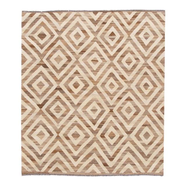 21st Century Modern Kilim Wool Rug For Sale