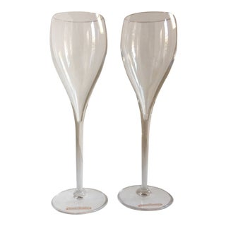 Veuve Clicquot Crystal Champagne Glasses - A Pair