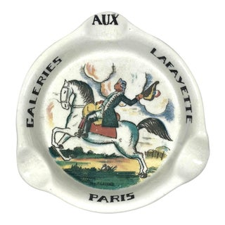 Vintage Galeries Lafayette Paris Ashtray For Sale