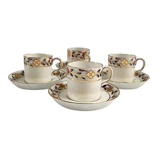 Tiffany & Co. Demitasse Cups & Saucers - Set of 4