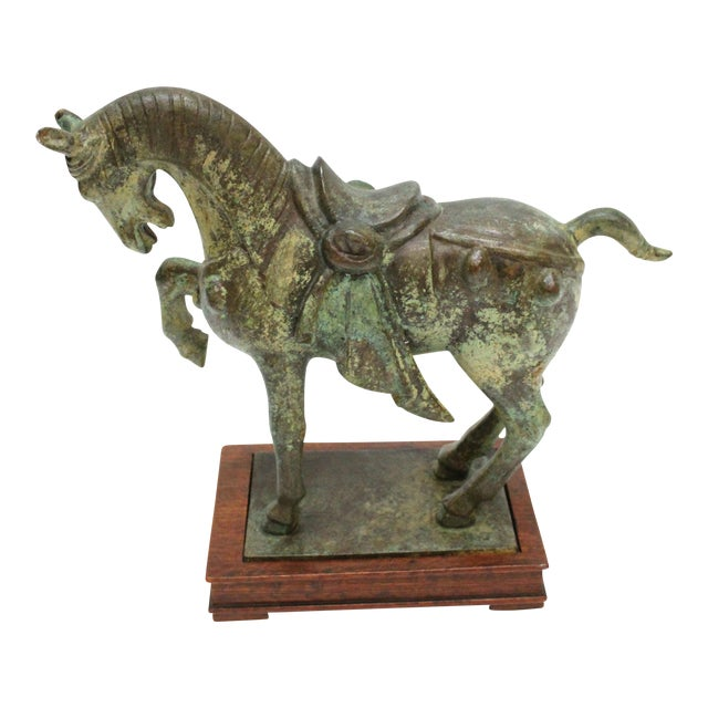 Tang Dynasty Horse Cast Bronze Statue Chairish