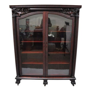 19th Century Victorian Mahogany Double Door Bookcase For Sale