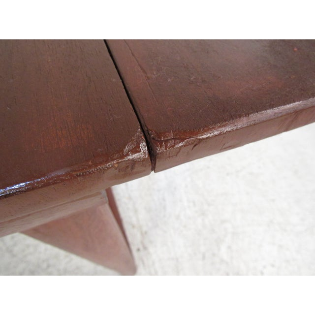 Sculptural Mid-Century Modern Drop-Leaf Writing Desk For Sale - Image 9 of 12
