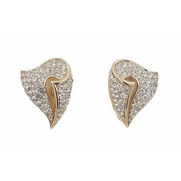 1960s 1960s Trifari Pavé Rhinestone Earrings For Sale - Image 5 of 5