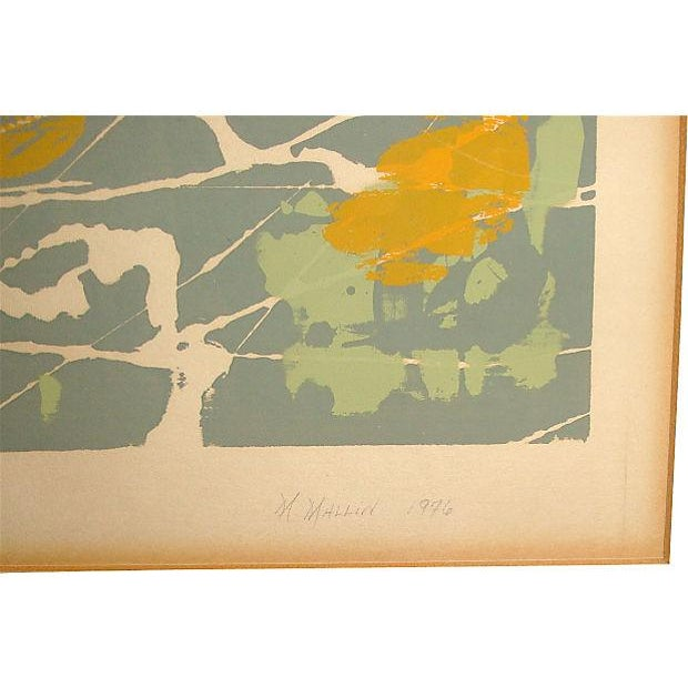 """Jackson Pollock Abstract Monoprint Painting, """"New York 1:00 Am,"""" 1976 For Sale - Image 4 of 7"""