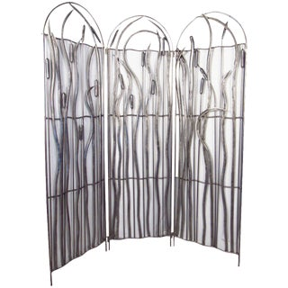 Three-Panel Metal Screen For Sale