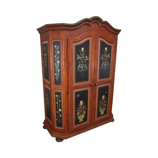 French Style Hand Painted Armoire Cabinet