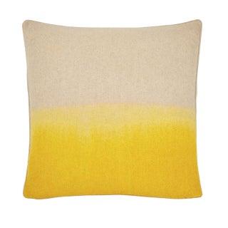 """Modern Burnt Yellow Ombre Wool Felt Pillow - 22x22"""" For Sale"""