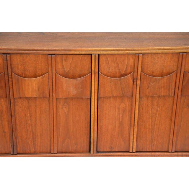 Brown Rare Carved Walnut Cabinet by Brown Saltman For Sale - Image 8 of 10