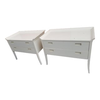 White Asian Style Consoles - A Pair