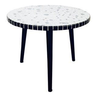 Mid Century Mosaic Pebble Side Table