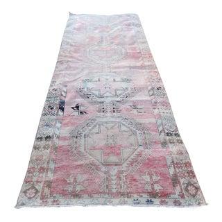 Vintage Turkish Oushak Wool Runner-4′6″ × 11′11″ For Sale