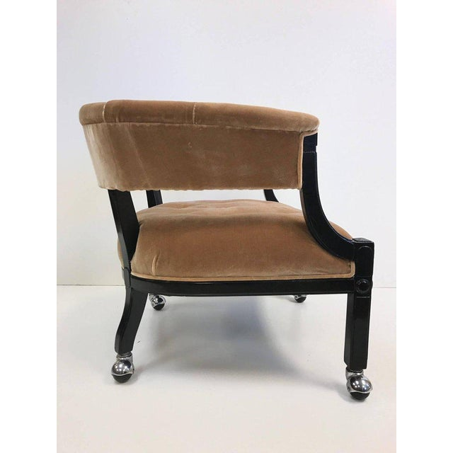 Hollywood Regency Hollywood Regency Lacquered Slipper Chair For Sale - Image 3 of 6