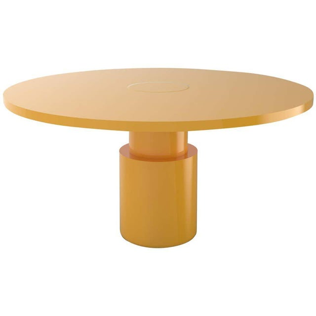 Postmodern Contemporary 100C Dining Table by Orphan Work, 2020, Yellow For Sale - Image 3 of 3