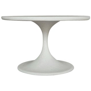 Cast Resin 'Spindle' Side Table with White Stone Finish by Zachary A. Design For Sale