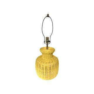 Wicker Vintage Ginger Lamp